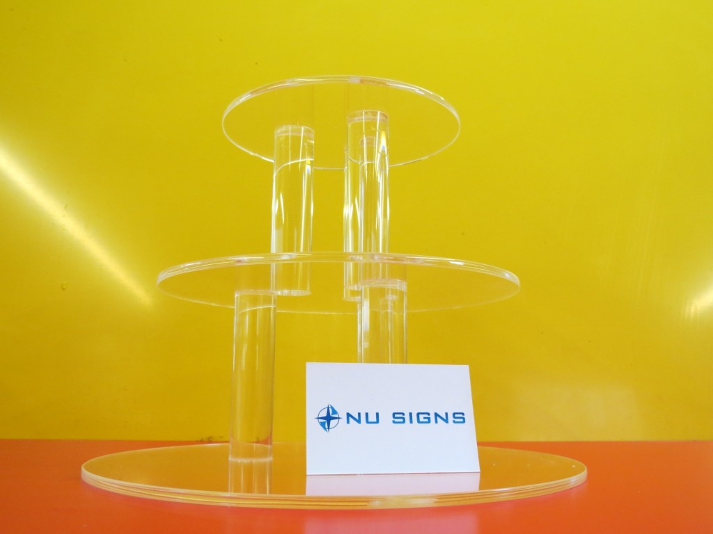 Bespoke acrylic cake stand